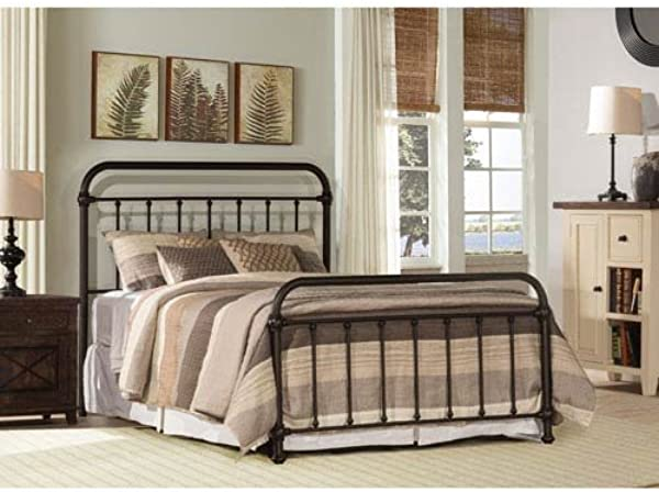 Hillsdale Furniture Panel Bed In Dark Bronze King 78 In L X 54 In H 45 Lbs