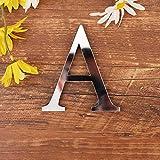 3D DIY Lettres Alphabet Décoratives Argent, Créatif Acrylique...
