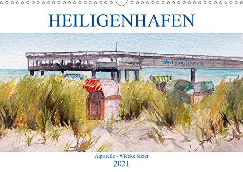Heiligenhafen in Aquarell (Wandkalender 2021 DIN A3 quer)