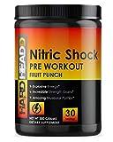 Nitric Shock Pre Workout Diet Supplement – Explosive Energy, Mental Focus Support, Amazing Muscular Pumps - Nitric Oxide Booster Pre-Workout Energy Powder - 30 Servings, Fruit Punch Flavor