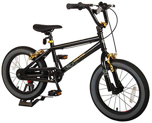 Bici Bicicletta Bambino 16 Pollici Cool Rider Freni al Manubrio Nero 95% assemblata