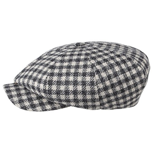 Stetson Casquette Plate Many Wool Homme - Made in Germany Casquettes volumineuse Bonnet en Laine avec Visiere, Doublure, Doublure Automne-Hiver - 57 c
