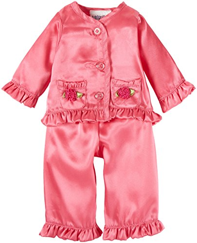 Unique Doll Clothing Pink Satin Pajamas for 18 Including The American Girl Line Doll by Unique Doll Clothing