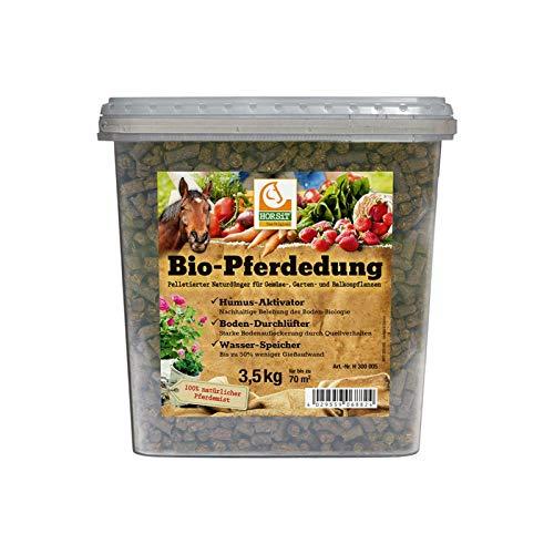 HORSiT Bio-Pferdedung - Pellets, Biodünger, Naturdünger, Gartendünger, Pferdedünger, Humus-Aktivator, Boden-Durchlüfter, Wasser-Speicher, Inhalt:3.5 kg