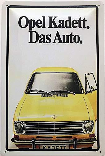 Deko7 Blechschild 30 x 20 cm Opel Kadett - Das Auto