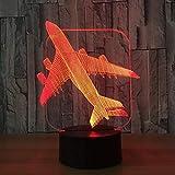 Modèle de Chasseur d'avion Nuit créative Touche Tactile Avion à réaction Avion Lampe de Table Lampe de Chevet lumière Jouet Cool Bateau en Chute Libre