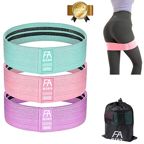Exercise Booty Bands Non Slip Resistance Bands for Legs and Butt Exercises Training Bands Fabric Workout Bands for Women 2019 Upgrade