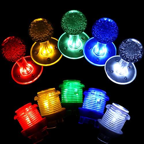 SJ@JX Arcade Game LED DIY Kit Mechanische Tastatur Schalter Arcade LED Taste LED Joystick Controller Zero Delay USB Encoder für PC MAME Retropie Jamma