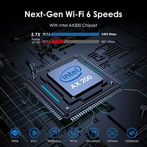 WAVLINK AX3000 WiFi 6 PCIe WiFi Card for PC with Bluetooth 5.1, Intel AX200 802.11ax Dual Band Wireless Adapter with MU-MIMO OFDMA, Heat Sink, High Gain Aantennas, Supports Windows 10 (64bit) only