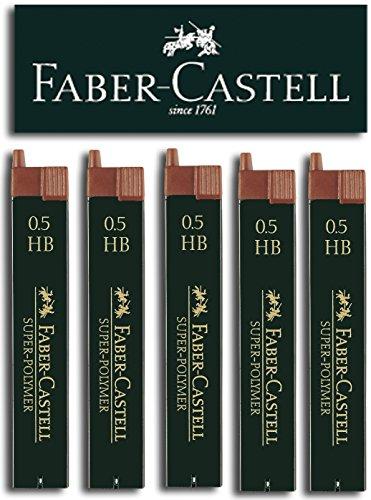 Faber-Castell SUPER-POLYMER - Minas finas (5 latas, 0,5 HB)