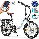 Bluewheel 20 Zoll klappbares E-Bike 16Ah -Deutsche Qualitätsmarke- EU-konformes Pedelec inkl. App,...