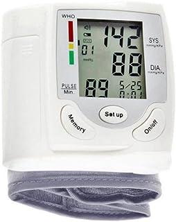 Monitor de presión arterial brazo superior preciso Digital BP máquina para uso doméstico y medidor de detección de frecuencia de pulso con memoria LCD