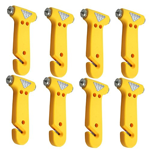 KAFEEK Safety Hammer Seatbelt Cutter Window Breaker Escape Tool, Pack of 8