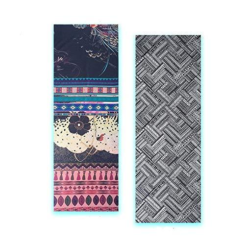 Gaodpz 185 * 65 * 0.1cm Yoga Mat Toalla de impresión Digital portátil Plegable Antideslizante Ejercicio Gimnasio en casa del cojín Manta de Picnic Medio Ambiente Equipo de la Aptitud (Color : Gold)