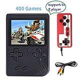Handheld Spielkonsole, 400 Klassische Spielen 3-Zoll-LCD-Bildschirm tragbare Retro-Videospielkonsole...