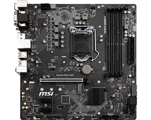 MSI B365M PRO-VDH Intel Sockel 1151 DDR4 m.2 USB 3.2 Gen 2 HDMI M-ATX Motherboard