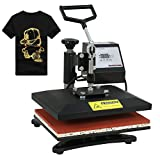 F2C Pro 12' x 10' Heat Press Machine Swing-Away Digital Heat Transfer Sublimation Printing Machine for T-Shirt Black