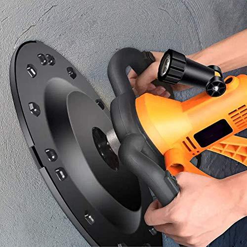 InLoveArts Máquina alisadora de Paredes,lijadora de Disco de 1700 W con Cambio de 6 Marchas, diámetro de Disco de 370 mm,lijadora de Pared con iluminación LED y lijadora,Adecuada para Paredes de Yeso