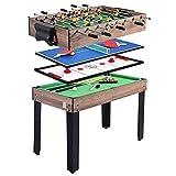Función Combo Juego de Mesas de Juego Multi Tabla 4 en 1 Entretenimiento Mesa de 47' for Mesa de Billar Mesa de Ping Pong Fútbol Foosball Tabla de Hockey tobogán for niños