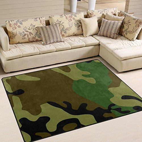 JSTEL INGBAGS Teppich mit 36 Bereichen, superweich, modern, Camouflage, für Wohnzimmer, Schlafzimmer, für Kinder, zum Spielen, robust, Heimdekoration, Bodenteppich und Teppiche, 160 x 122 cm