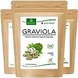 moriveda® - capsule graviola 360 x 1800mg estratto di frutta 4: 1 in guscio capsula hpmc, vegano, prodotto di qualità - soursop (3x120 capsule)