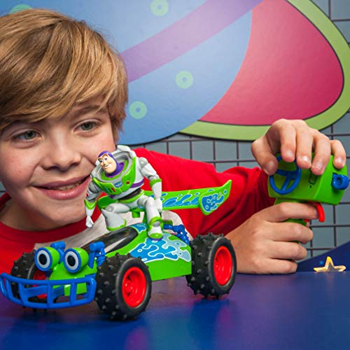 RC Auto kaufen Buggy Bild 2: Dickie Toys 203154000 RC Buggy with Buzz, ferngesteuertes Spielzeug, Toy Story Fahrzeug mit Funksteuerung, für Kinder ab 4 Jahren, Mehrfarbig*