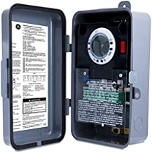 GE Heavy-Duty 7-Day Digital Box Timer Switch, Metal, Tamper Resistant, Battery Backup, Universal Voltage, 120, 240, 277 VAC, NEMA 3R-Rated, Indoor/Outdoor, Ideal for Pool Pumps, Water Heaters, 46537