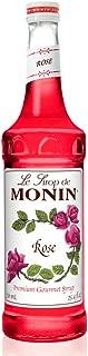 Monin - Rose Syrup, Elegant and Subtle, Great for Cocktails, Mocktails, and Soda, Gluten-Free, Vegan, Non-GMO (25.4 Fl Oz (Pack of 1))