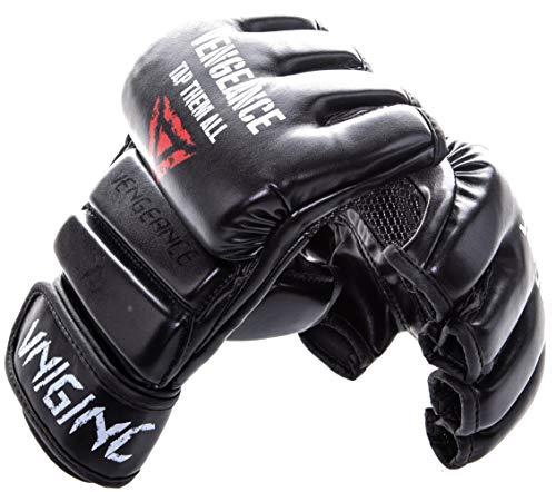 Vengeance Premium MMA Handschuhe | +GRATIS MUNDSCHUTZ(Werbeaktion)+Tragetasche+E-Book (HCG-Diät) | MMA, Freefight, Krav MAGA, Kampfsport | verstärkter Knöchel- und Gelenkschutz | Profi-Handschuhe (M)