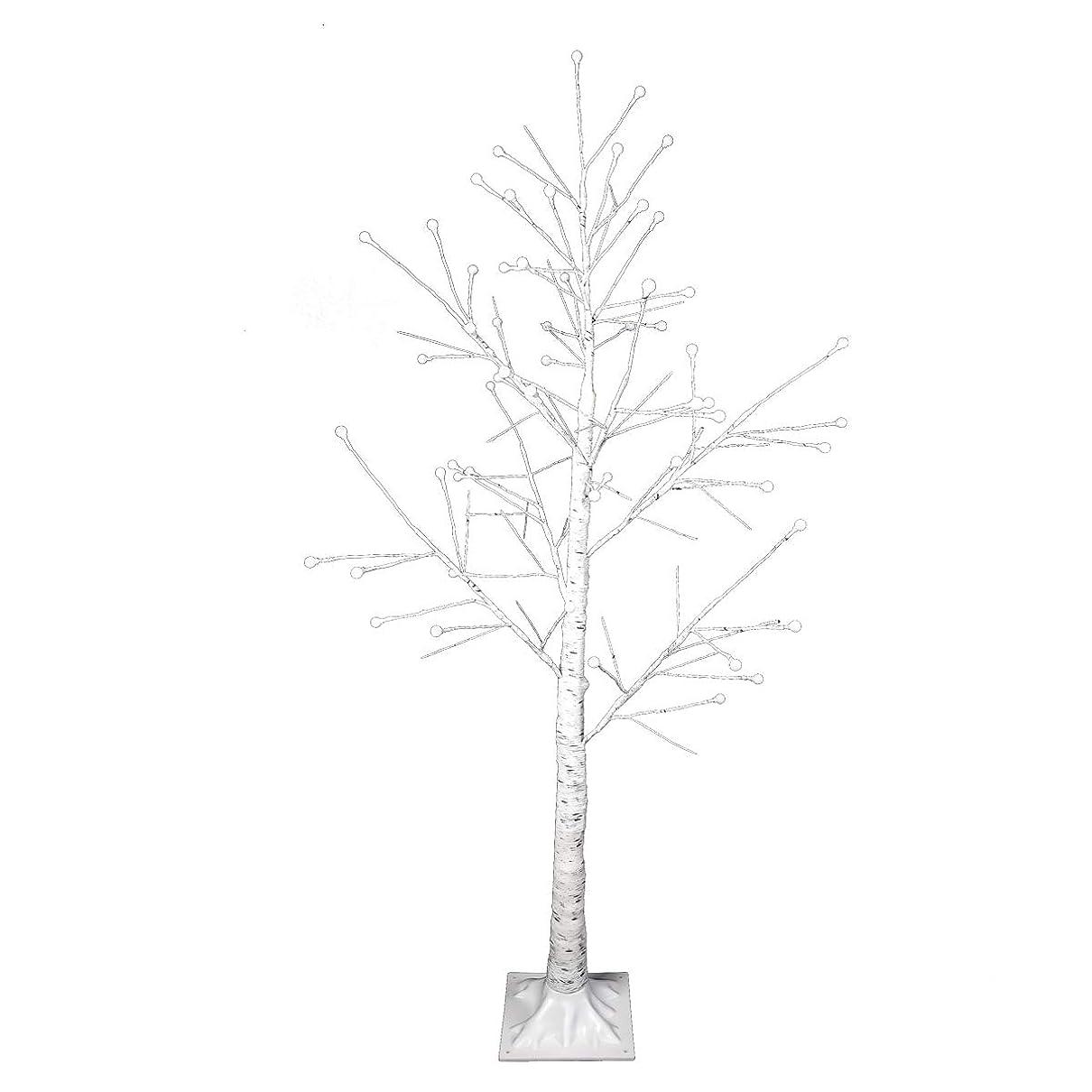 スロベニア参加者サーキットに行く白樺 シラカバ ツリー クリスマスツリー 150cm 北欧 おしゃれ ウェルカムツリー ハロウィン ヌードツリー シラカバツリー 白樺ツリー led ライト cm19a