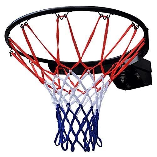 Anillo de aro de Baloncesto Negro de Pared con Red Tamaño Profesional 18'45 cm Anillo de Red de aro de Baloncesto montado en la Pared para aro de Baloncesto Interior al Aire Libre (Color: Ne