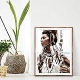 AJBB Frau Krieger Print, Boho Poster Pocahontas Native