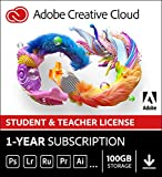 Adobe Student & Teacher Edition Creative Cloud   Student/Teacher Validation Required  12-month Subscription with auto-renewal, billed monthly, PC/Mac