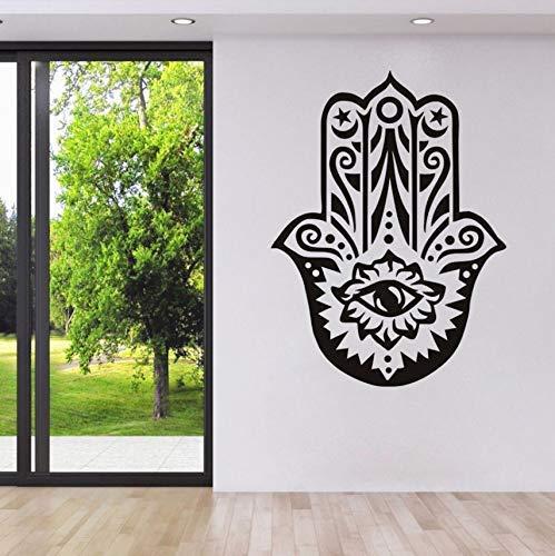 Religion Islamische Fatima Hand Wandaufkleber Wohnzimmer Wandtattoo Arabisches Symbol Dekoration Zubehör 78X58 Cm