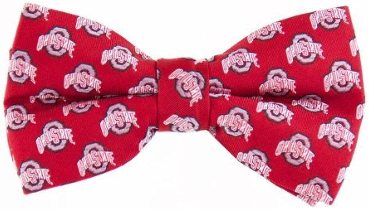 NCAA Ohio State Buckeyes Repeated Logo Bow Tie  Scarlet by Eagles Wings