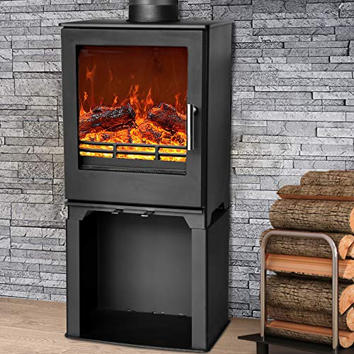 NRG Defra 5KW Multifuel Woodburning Stove Eco Design WoodBurner High Efficiency Fireplace with Log...