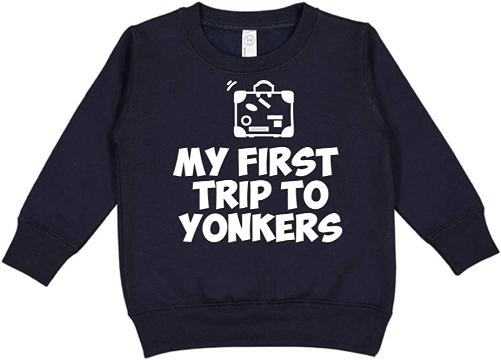 Toddler//Kids Sweatshirt Mashed Clothing My First Trip to Yonkers