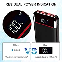 Power Bank Portable Charger 25000mAh,High Capacity with LED Digital Display and LED Lights, 3 USB Output & Dual Input…