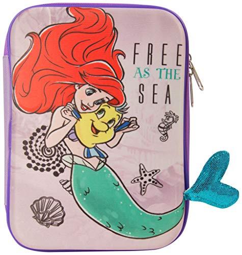 Disney Princess Disney Little Mermaid Ariel Pencil Case, Pen Holder, Kids Fun Stationery, Multi Colour