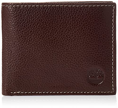 Timberland D02387/01 Uomo Brown Leather Sportz Passcase Wallet