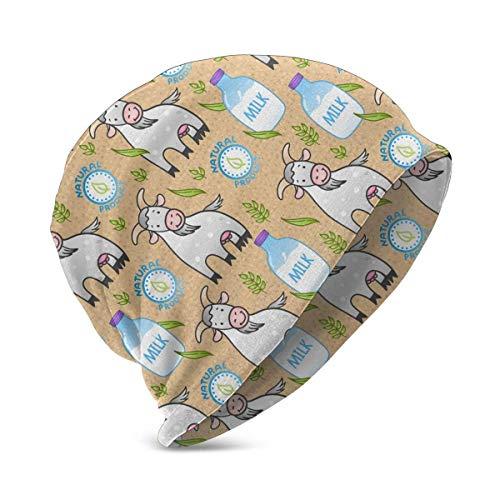 Quintion Robeson Bébé garçons Filles chèvre et Lait Motif Bonnet Bonnet Chapeaux en Tricot idéal pour 3-15 Ans