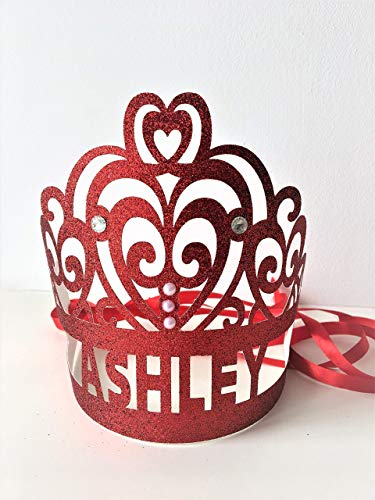 Personalised Glitter Crown. Tiara Party Favors. Photo Prop Birthday Party. Cake Smash Tiaras.