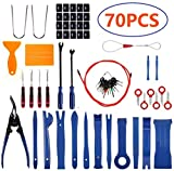 IOSUA Trim Removal Tool 70Pcs Car Pliers Fastener Remover Upholstery Repair Kit Auto Dash Panel Door Radio Audio Stereo Installation Pry Tool Set with Storage Bag