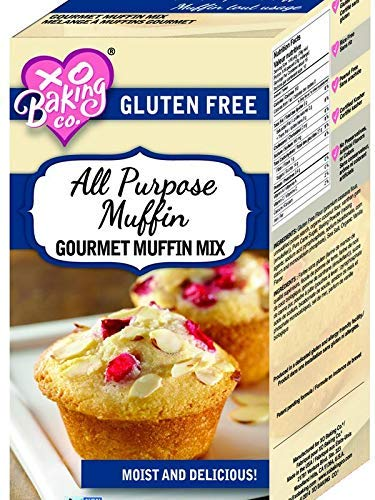XO Baking All Purpose Muffin Mix - Moist Flavorful Gluten-Free Muffin Mix - Use For Breakfast Blueberry Muffins or Chocolate Chip Muffins (16.4 Ounce)