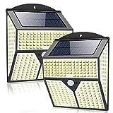 Luces Solares, Sebami 2 Packs Luz Solar Exterior Foco Solar Exterior 318...