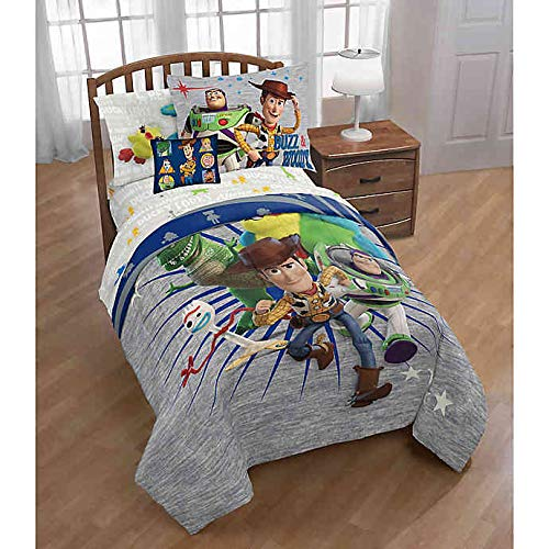 Disney Toy Story Woody & Friends: Boys Kids Twin Comforter, Sheets, Sham, Toss Pillow (6 Piece Bed in A Bag) + Homemade Wax Melts