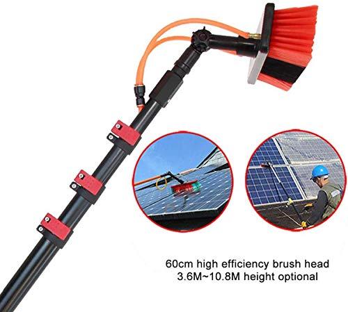 WERFFT Photovoltaik-Reiniger Spezialreiniger Mop für Photovoltaik-Module, Solar-Panel-Reinigungsbürste, tägliche Wartungsmittel für Photovoltaik-Module, Teleskop,10.8m