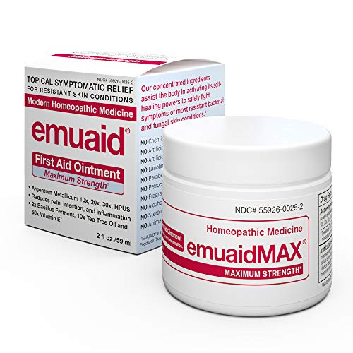 EmuaidMAX® Ointment - Antifungal, Eczema Cream. Maximum Strength Treatment. Use Max Strength for Athletes Foot, Psoriasis, Jock Itch, Anti Itch, Ringworm, Rash, Shingles and Skin Yeast Infection.