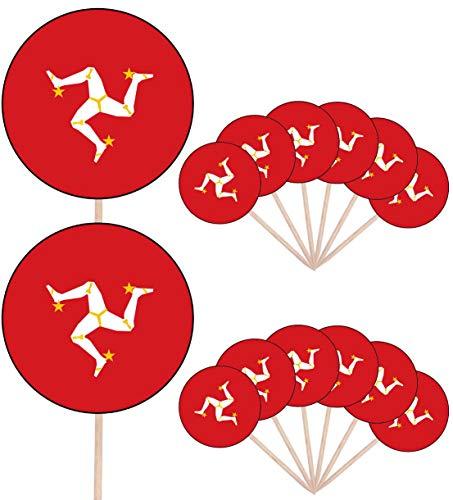 Macau Flagge, essbare Cupcake-Dekorationen, 24 Stück, mühelosvorgeschnittene Kreise