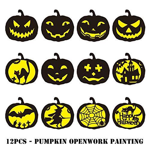 iSuperb 12 stuks Halloween plastic stencils Painting stencils sjablonen herbruikbaar schilderwerk doe-het-zelf sjablonen, kaarten maken, gebruik aan de muur, stof en huisdecoratie